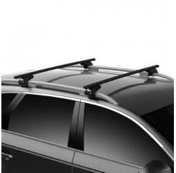 Peugeot 308 SW Estate 08-13 with Roof Rails Square Roof Bar Full Kit