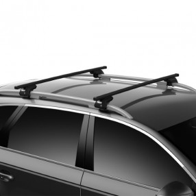 Fiat Freemont SUV 12+ with Roof Rails Square Roof Bar Full Kit