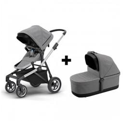 Thule Sleek Stroller Bundle - Grey Melange