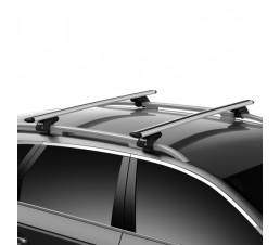 Skoda Octavia III Estate 13+ with Roof Rails Aluminium WingBar Full Kit