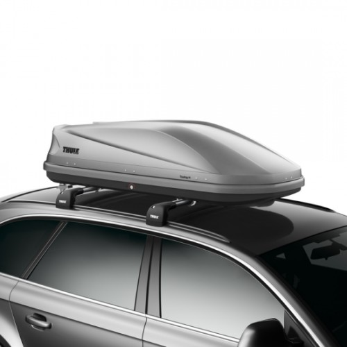 thule touring 200 car roof box silver towing equipment. Black Bedroom Furniture Sets. Home Design Ideas