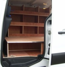 Van Shelving Peugeot Partner - Subfloor with Shelves