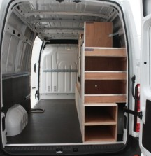 Van Shelving Renault Master - Rear Door View