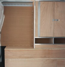 Van Shelving Renault Master - Fitout from Side Door