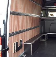 Van Shelving Mercedes Sprinter - Side Panel with Cargorail