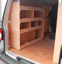 Van Shelving VW T5 - Left Side