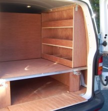 Van Shelving VW T5 with Subfloor
