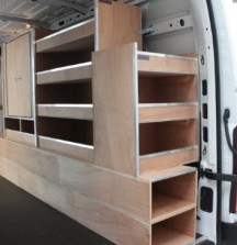 Van Shelving Plywood