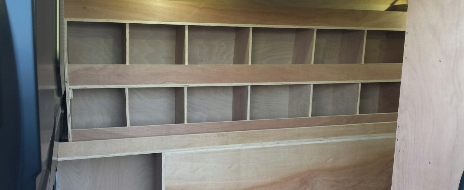 Van Shelving Timber Banner