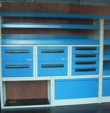 Drawer Unit with Shelves 1500mm - Syncro
