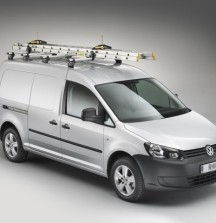 KammBar Roof Bars with Ladders and SafeClamp on VW Caddy - Rhino