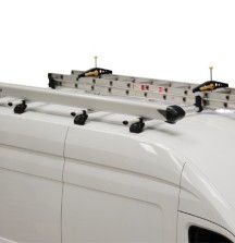 KammBar Roof Bars with Pipe Tube and Ladders/SafeClamp on Ford Transit - Rhino