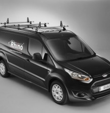 Delta Bar Roof Bars with Load Stops on Ford Transit Connect - Rhino